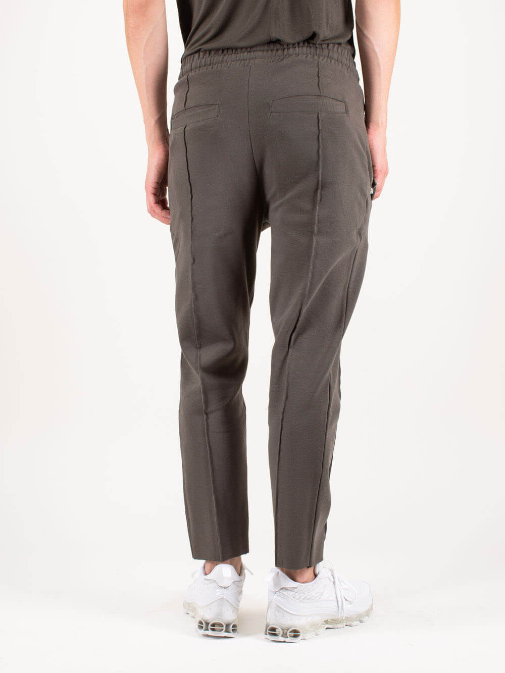 THOM KROM Pants MEN TROUSERS WORKED GREEN