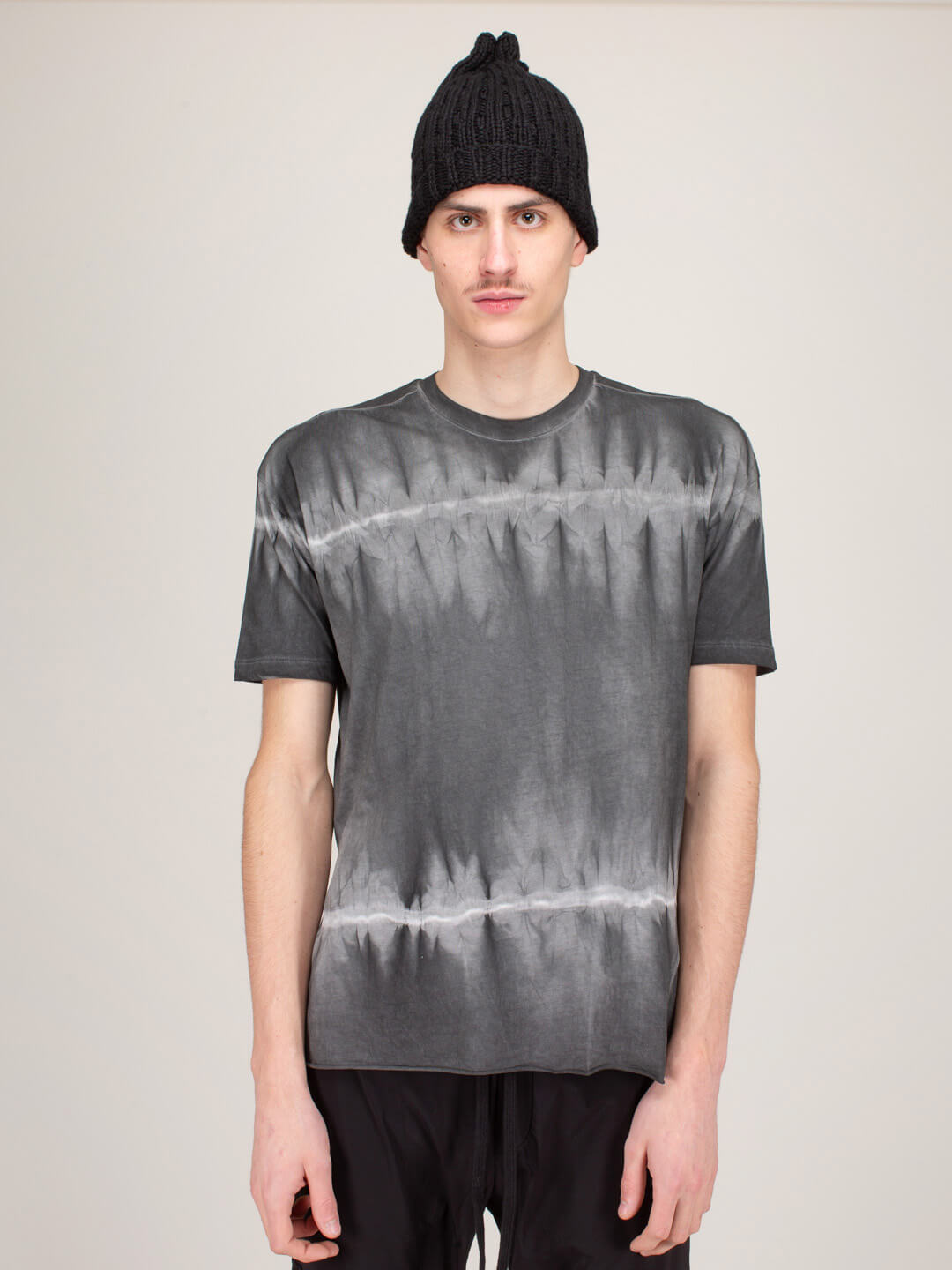Thom Krom T-SHIRT BLACK WHITE