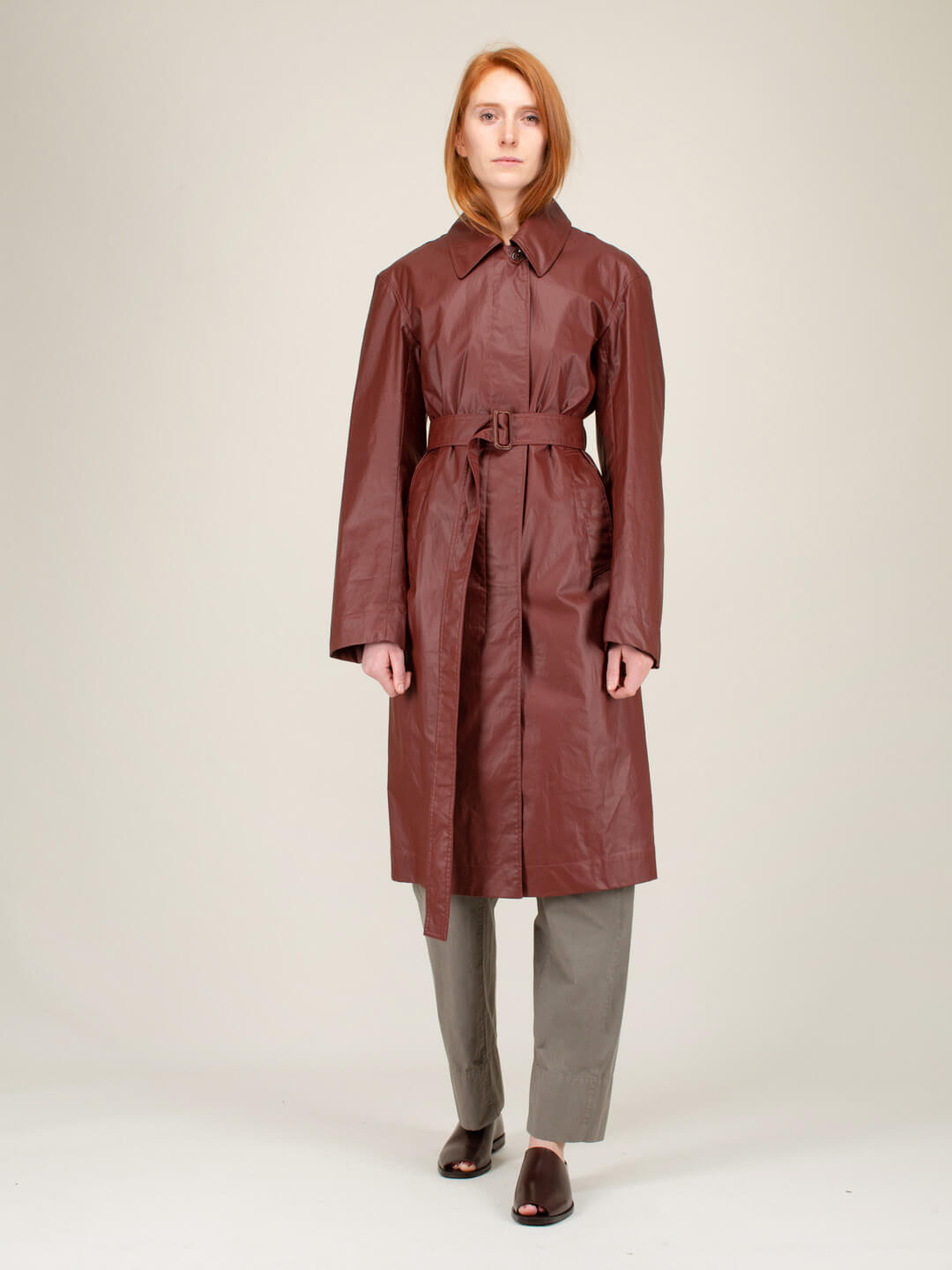 Lemaire FITTED TRENCH COAT RED