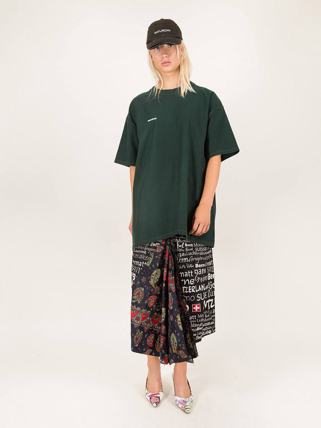 Inside Out Tee green