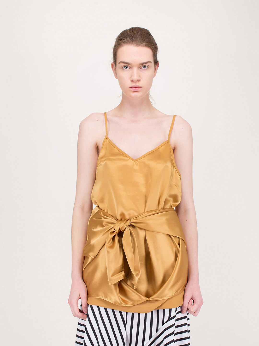 Twisted Top Satin gold