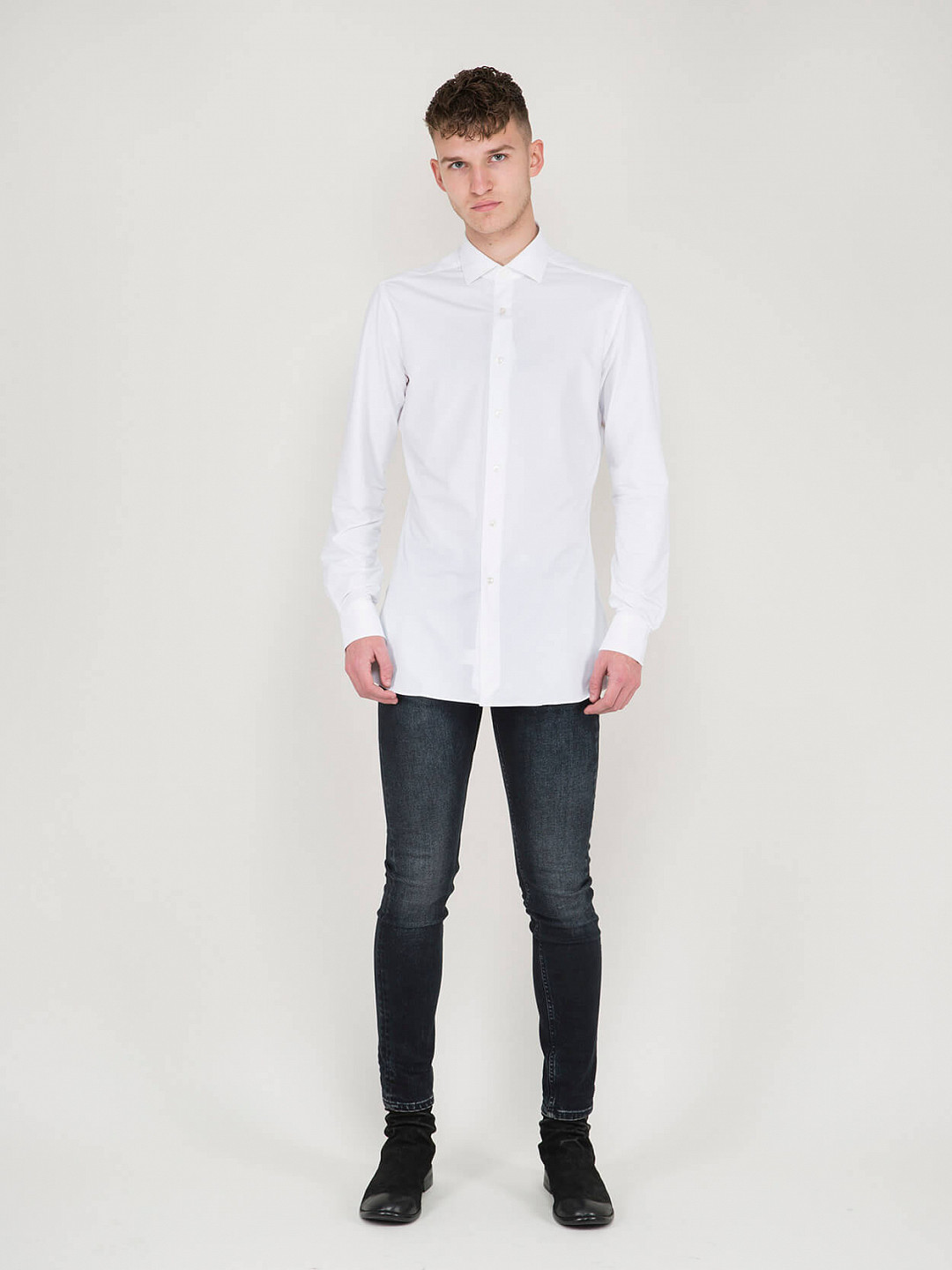 Business Tailor Fit Active Shirt white