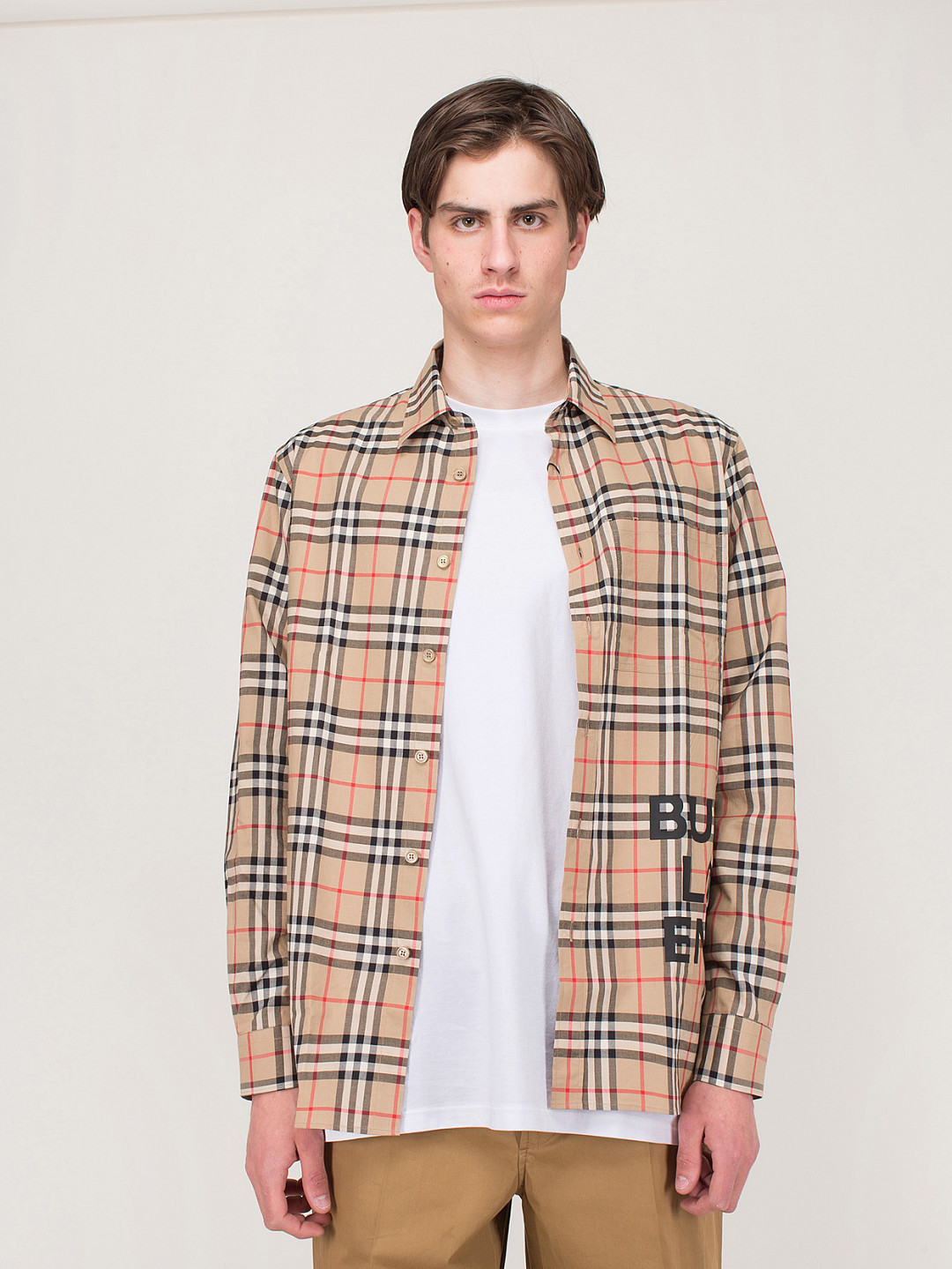 Shirt Archive Check beige