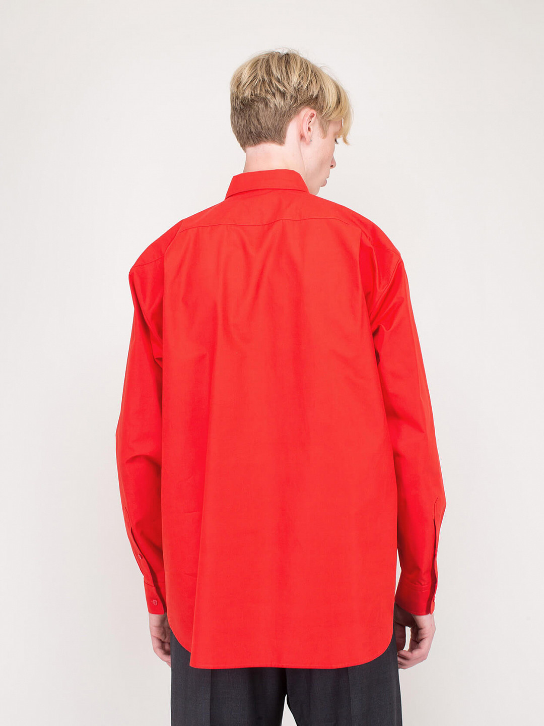 Square Shoulder Shirt red