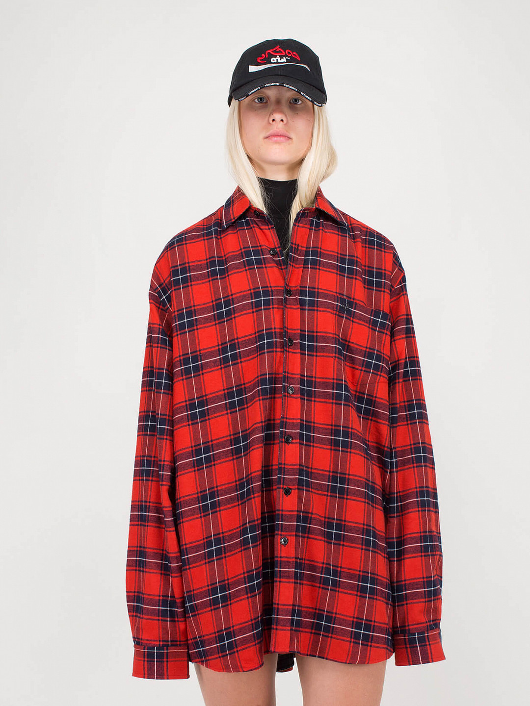 Oversized Reversible Shirt red green