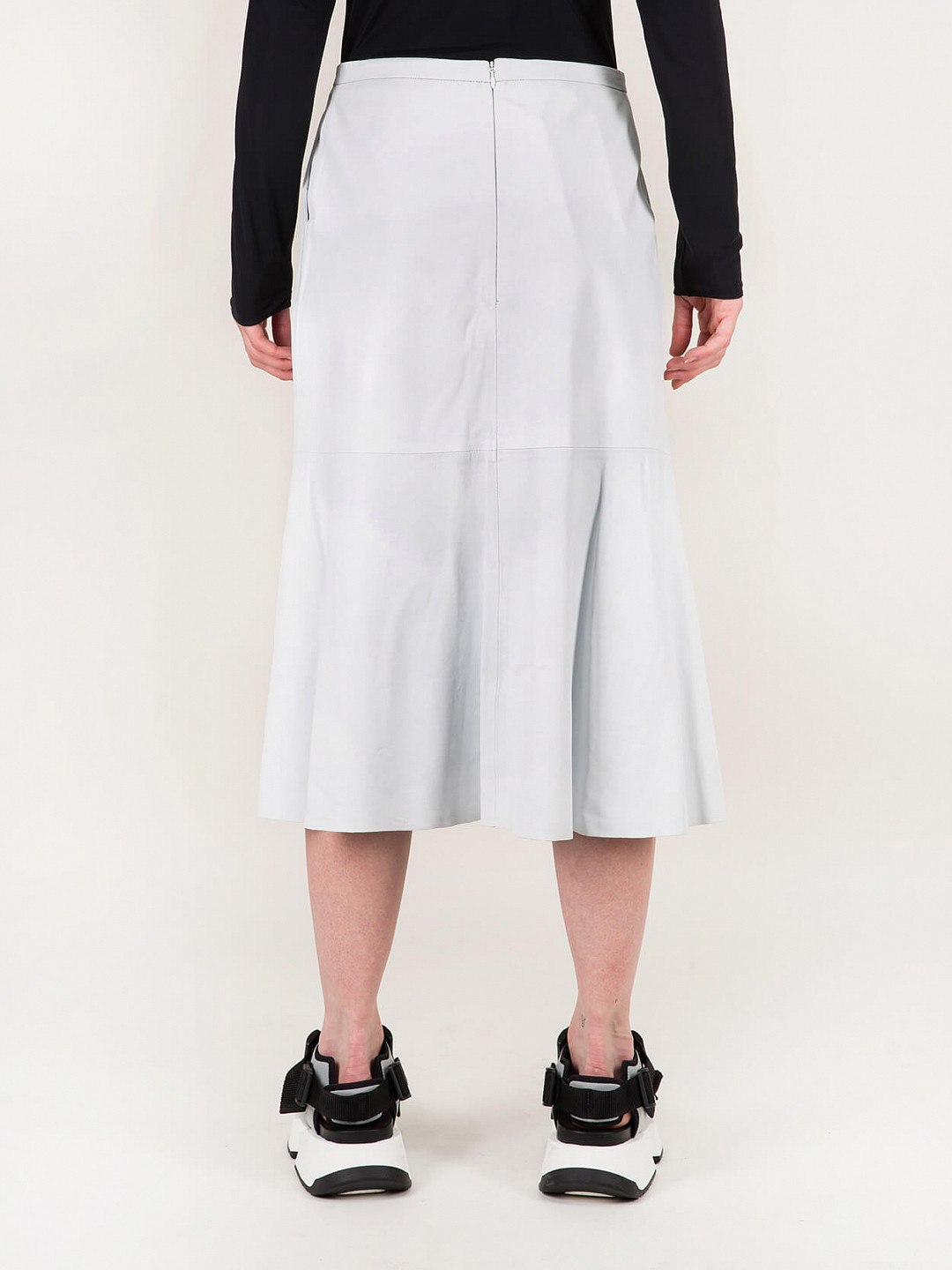 Circular Skirt Leather off white