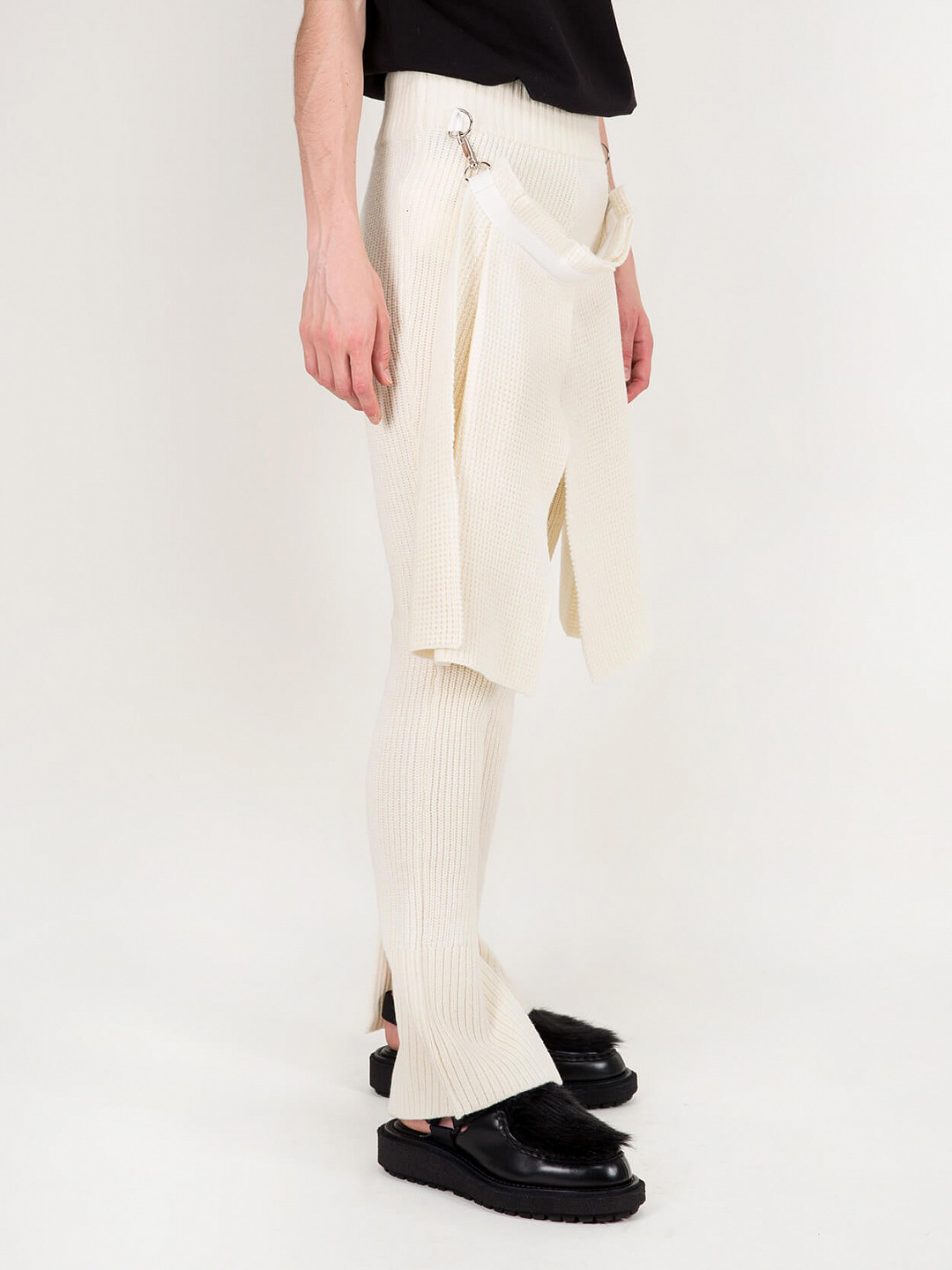 Wool Pant Knit off white