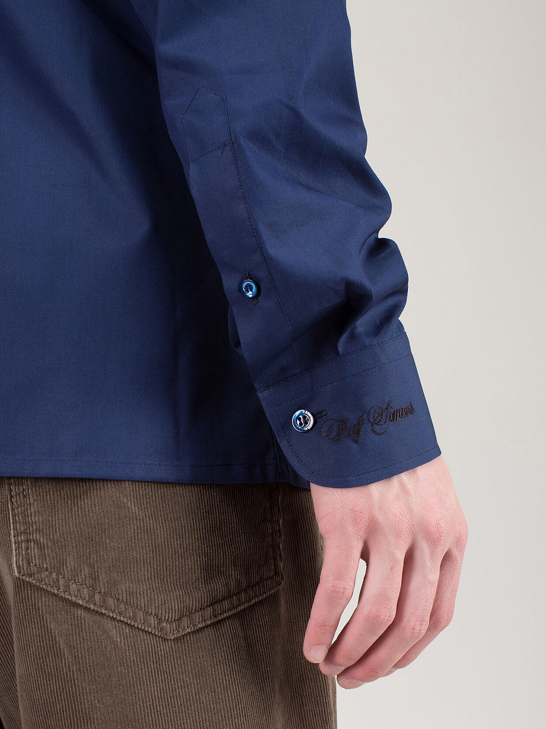 Slim Fit Shirt Embroidery Cuff