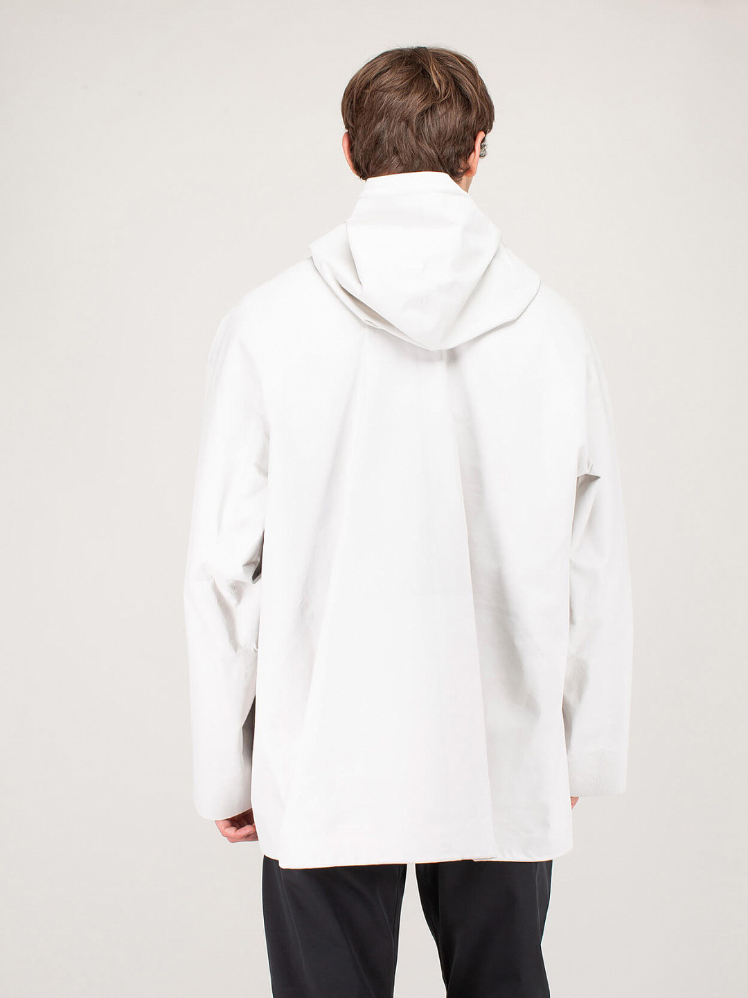Blouson Knit Leather off white