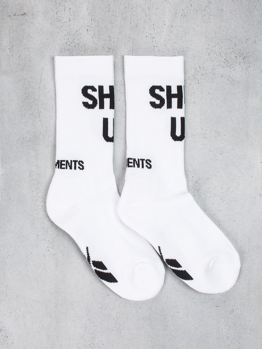 Shut Up Socks white