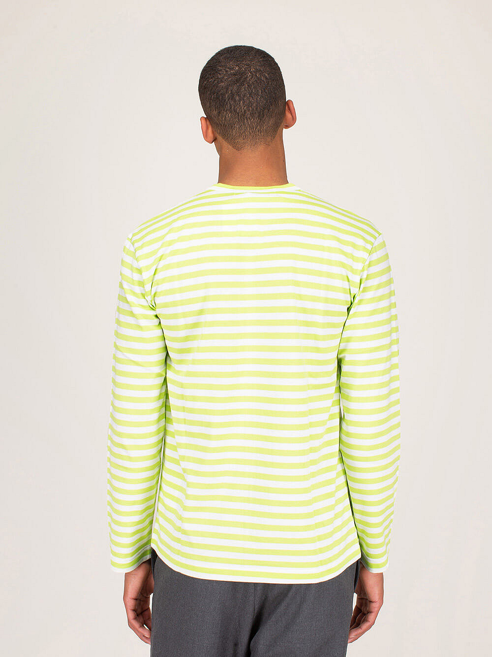 Mens Longsleeve Striped green