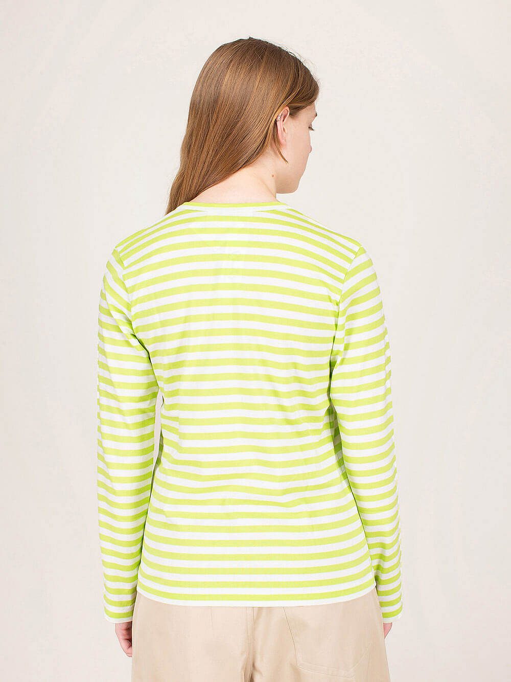 Ladies Striped Longsleeve green