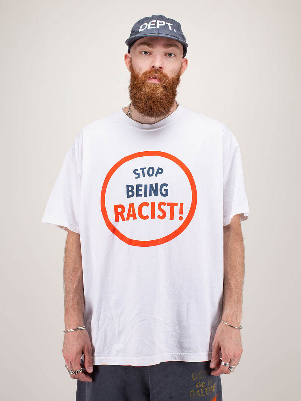 Stop Being Racist Tee white