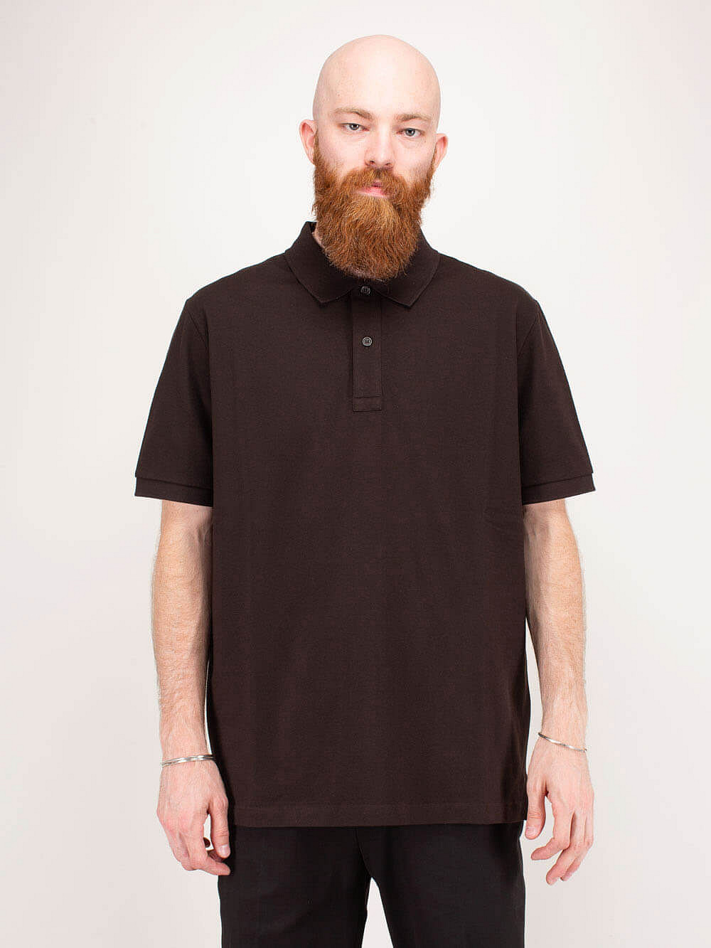 T-Shirt New Dry Piquet brown