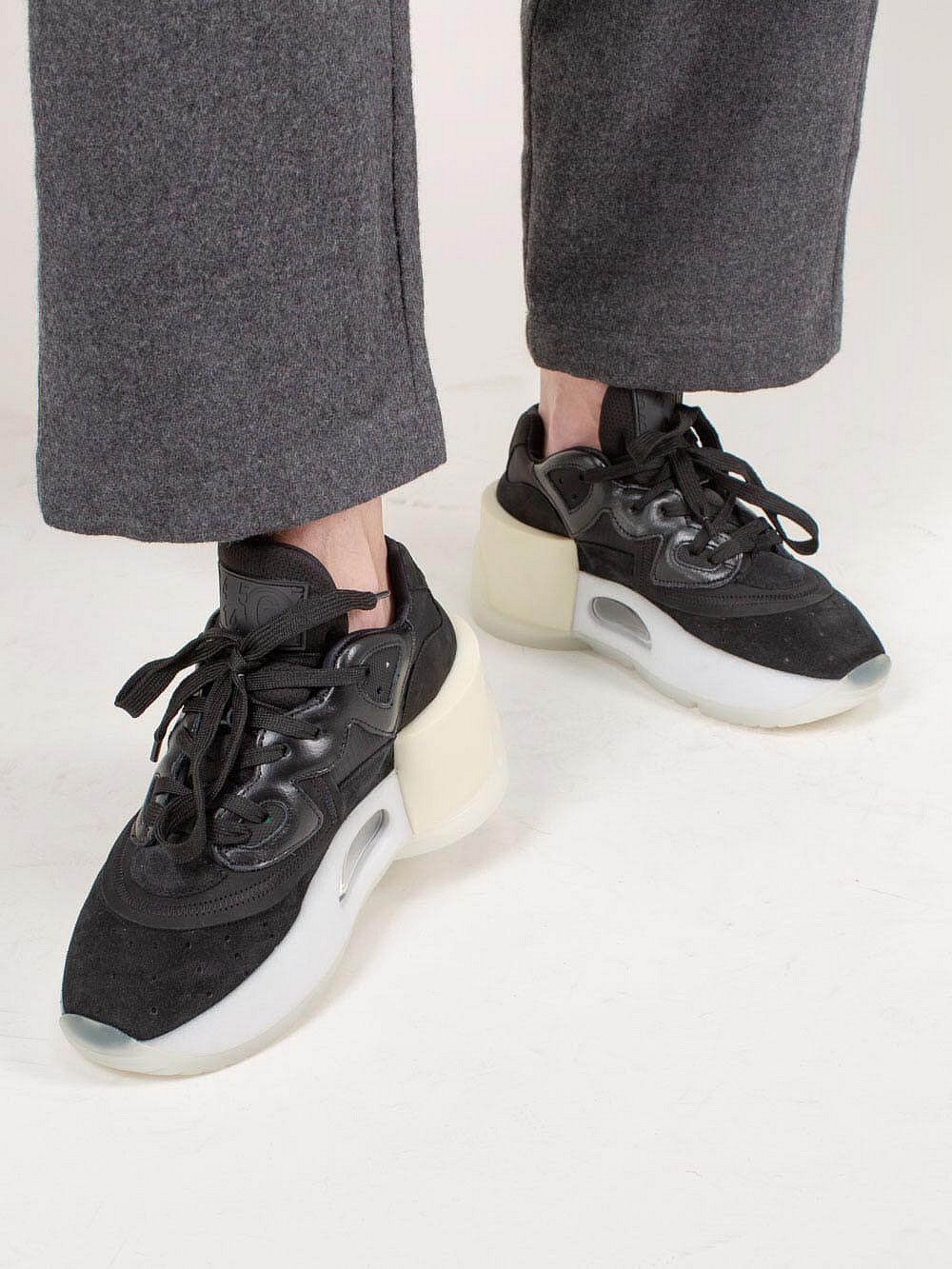Sneakers High Sole black white