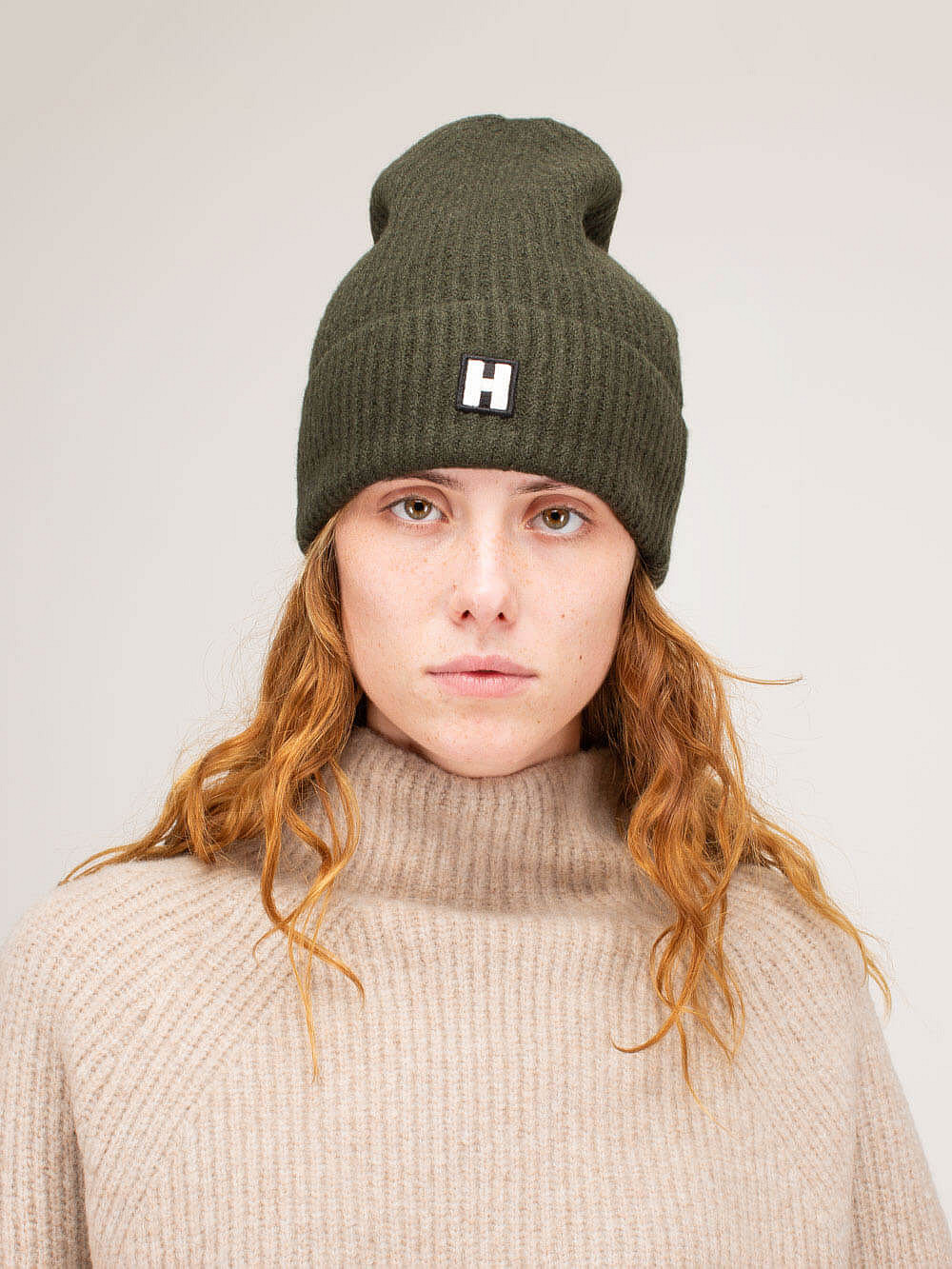 H Hat forest green