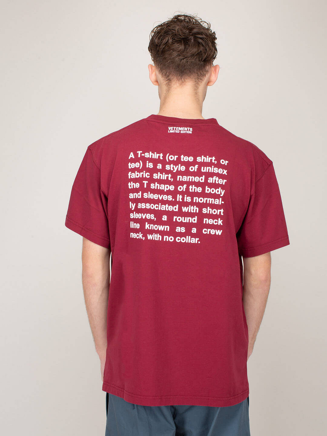 Definition T-Shirt bordeaux