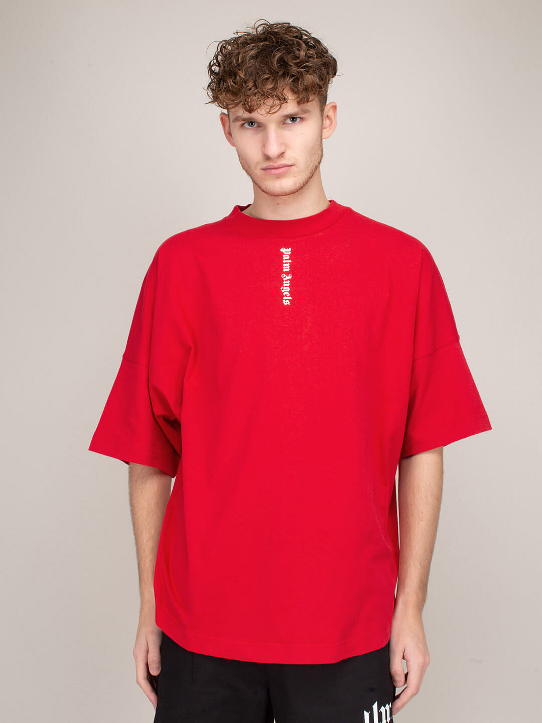 Logo Over Tee red white
