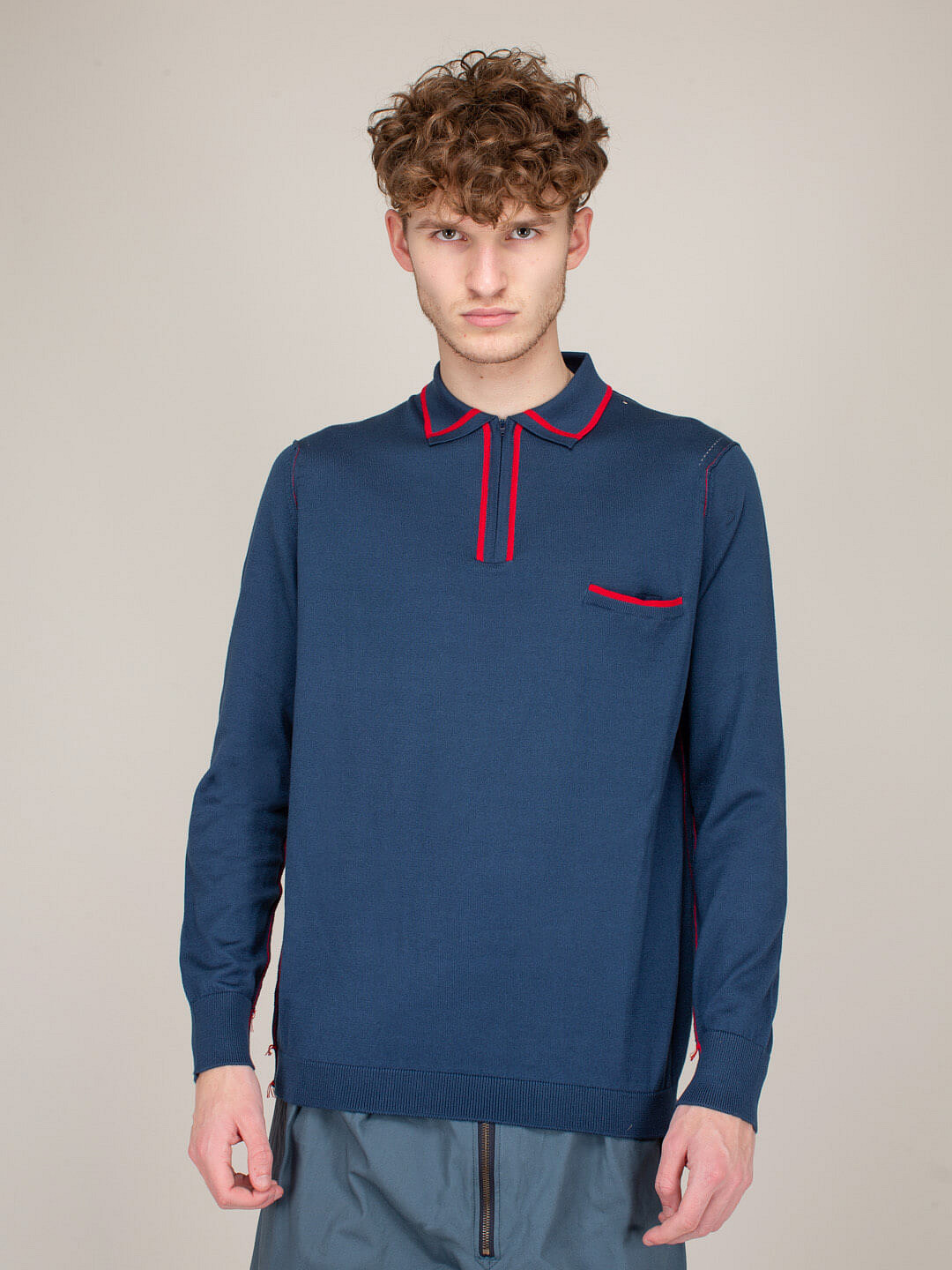 Pullover Shirt blue red