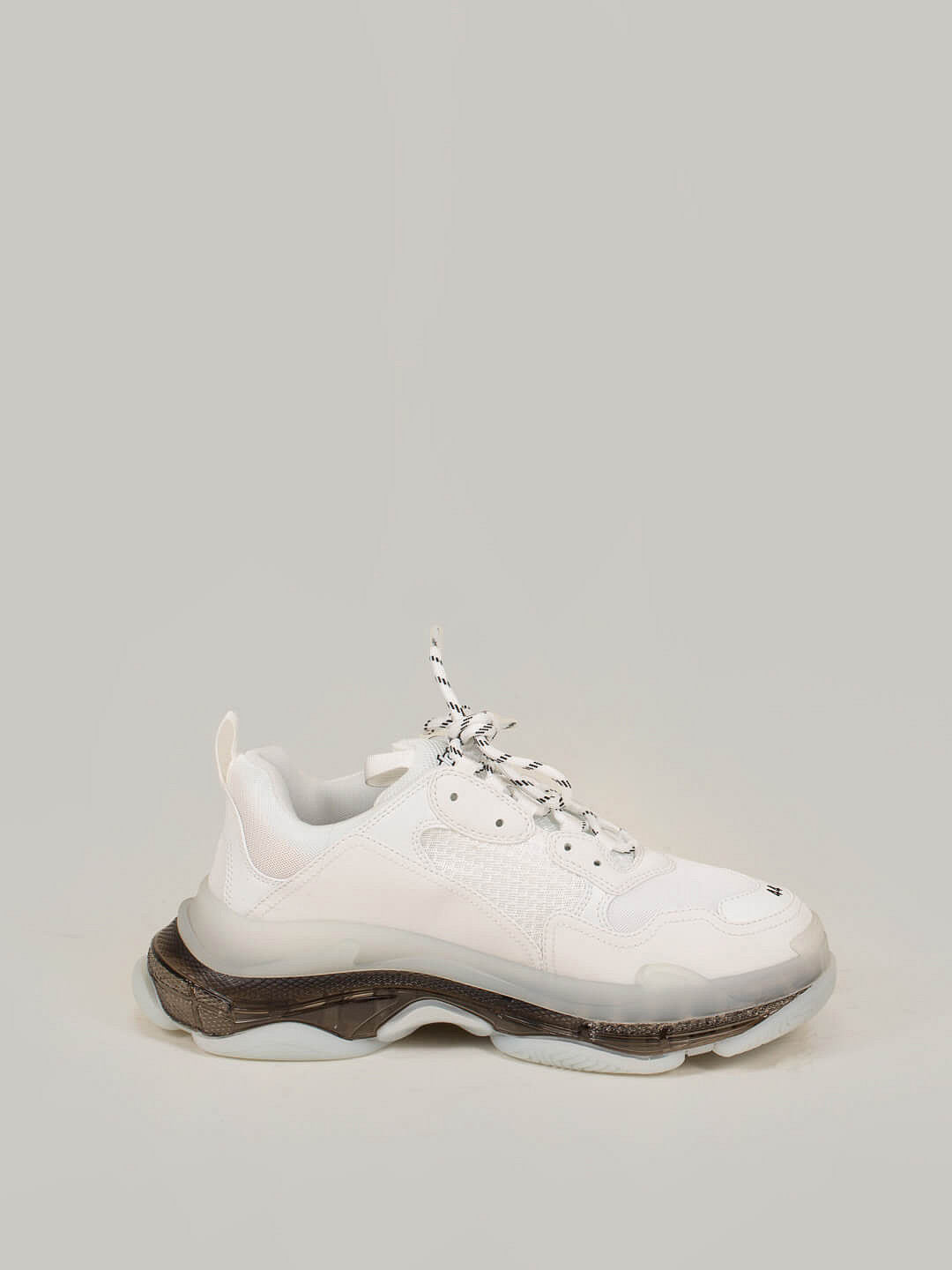 Triple S Clear Sole Leather Free white transparant