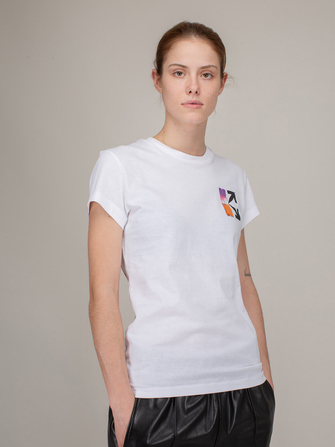 Gradient Carryover Fitted Tee white multicolor