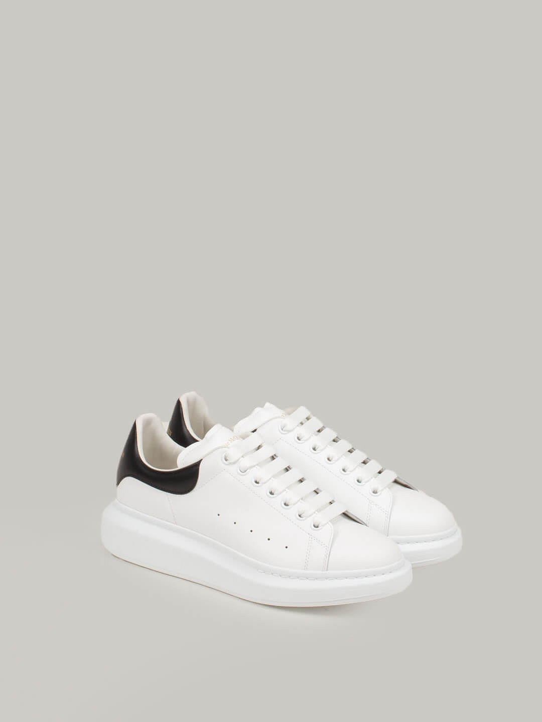 white Low Top Lace Up Sneaker black