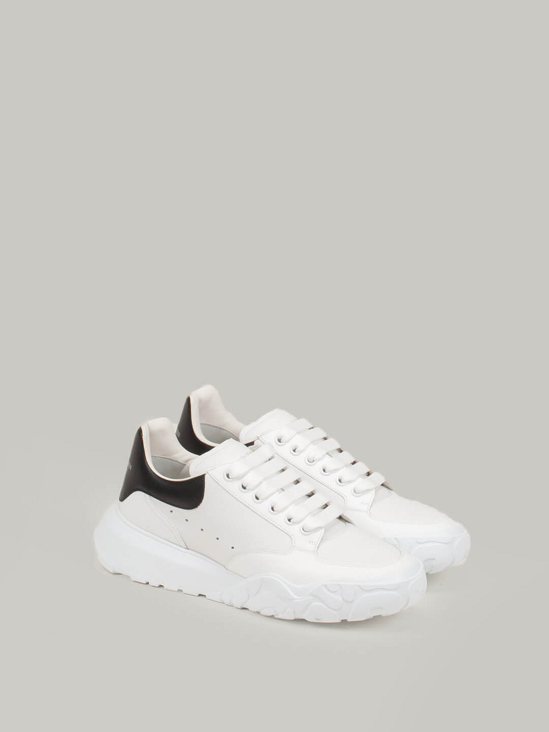 white Lace Up Sneaker black
