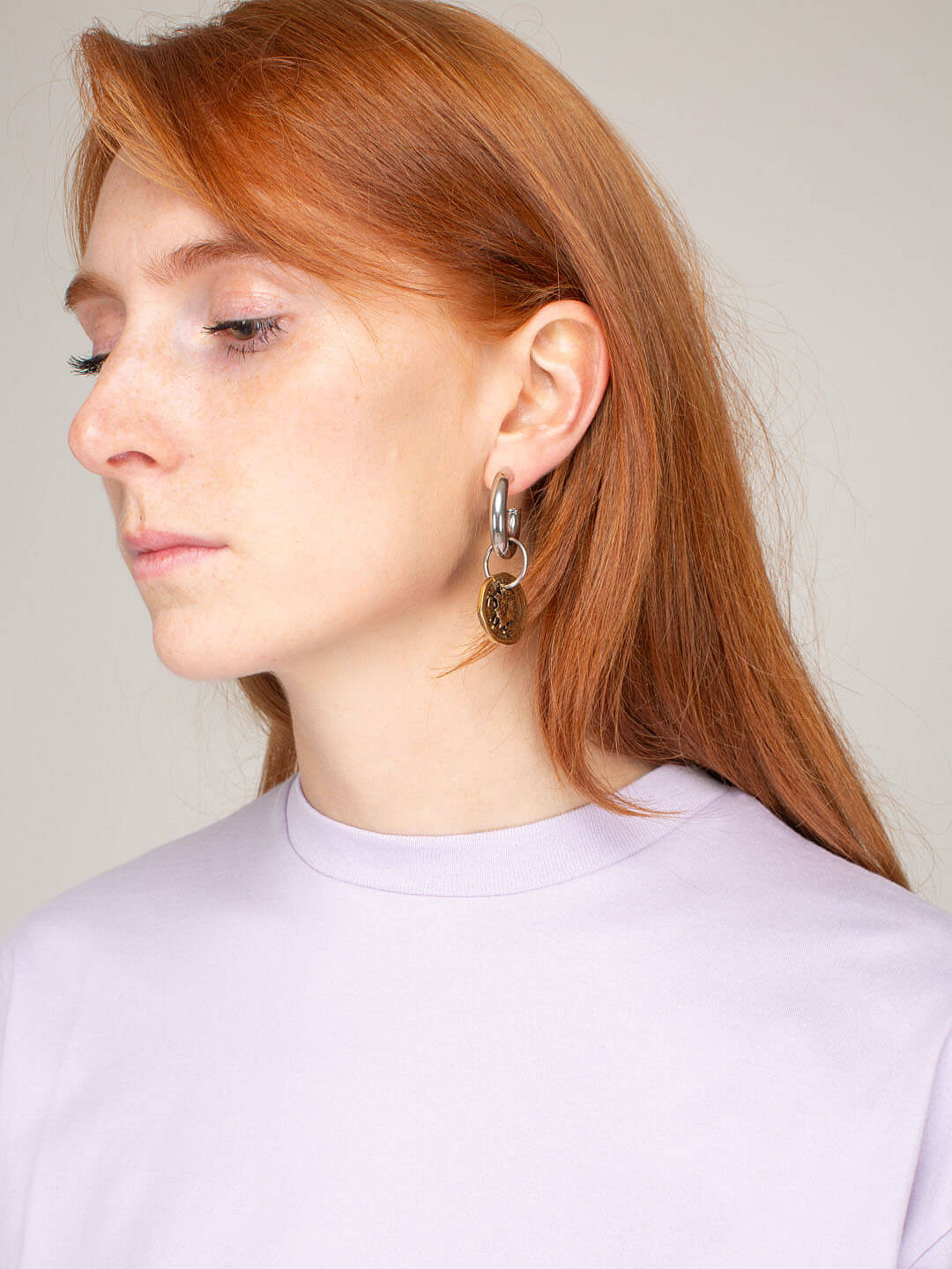 Coin Earring Antique silver gold