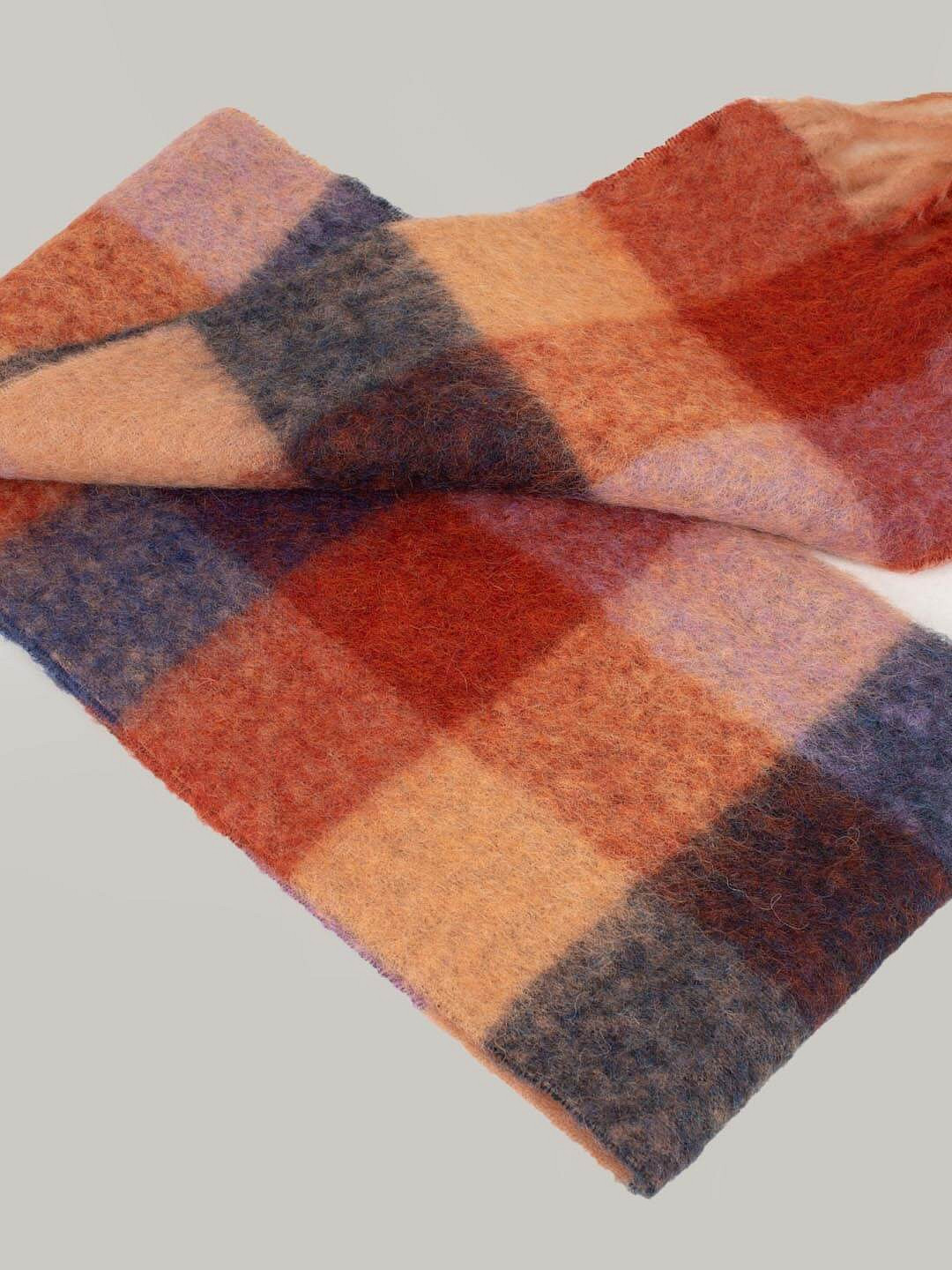 Scarf brown lila navy