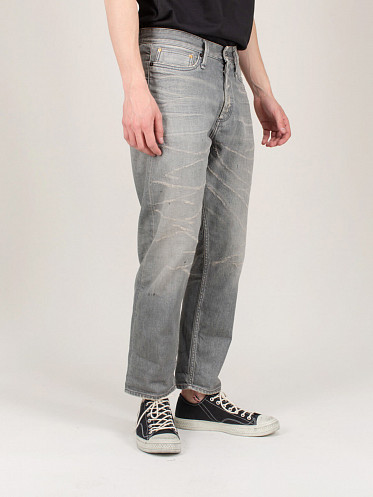 Crop Destroyed Jeans grey