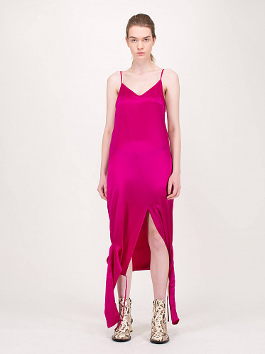 Twisted Top Satin fuchsia
