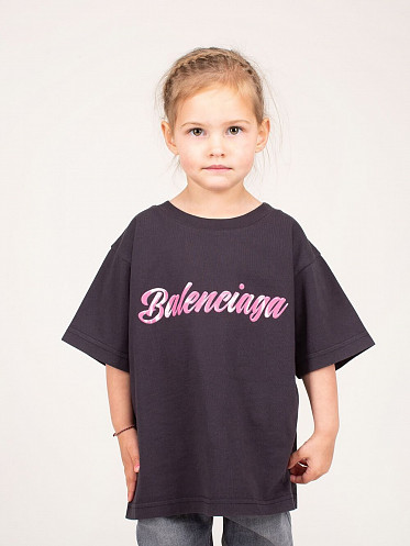 Kids Logo Printed T-Shirt pink