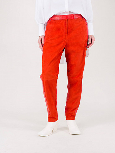 Pants Leather fire red