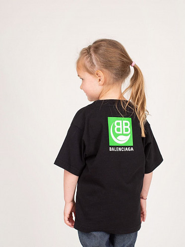 Kids Logo Print Cotton Jersey T-shirt