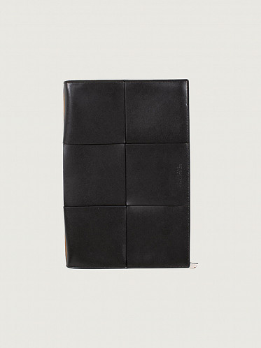 Document Case Urban Leather black silver