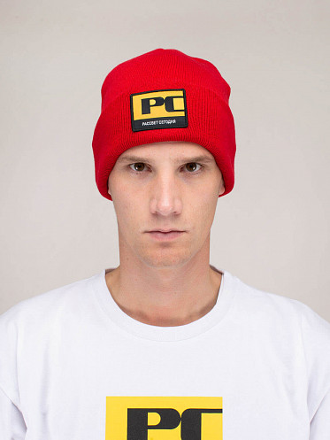Mens Beanie Paccbet red