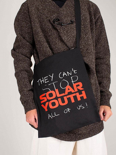 Printed Denim Tote Bag Solar Youth