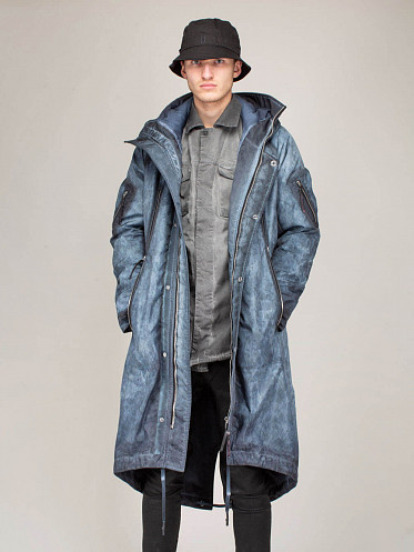 Long Jacket synthetic blue