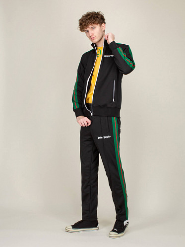 College Track Jacket black green red