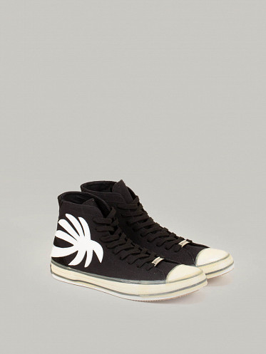 Vulcanic Palm High Top Sneaker black white