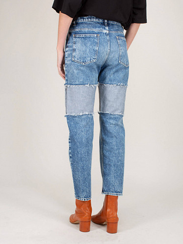 Spliced Thigh Recycled Jeans
