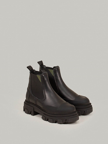 Calf Leather Boots black
