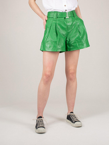 Lamb Leather Short kelly green
