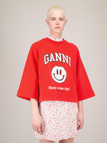 Isoli Sweatshirt Have A Nice Day flame scarlet