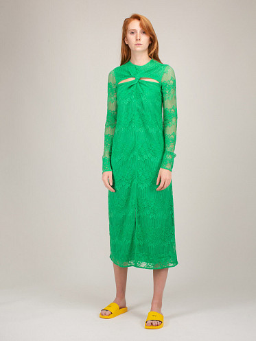 Lace Dress kelly green