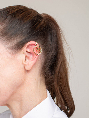 Earcuff Earring Pair gold plated
