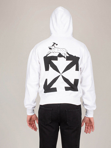 World Caterpillar Oversized Hoodie white