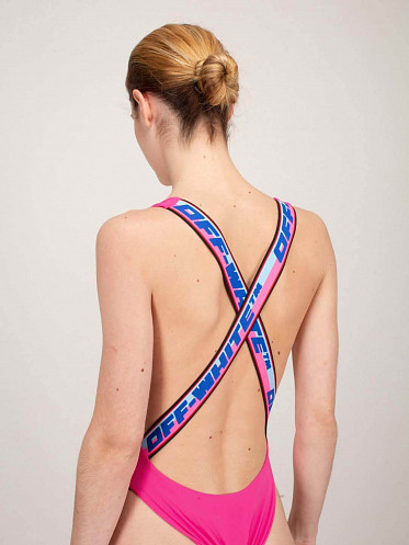 Tape Swimsuit pink