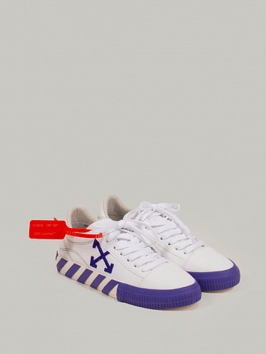 Vulcanized Low Canvas white violet