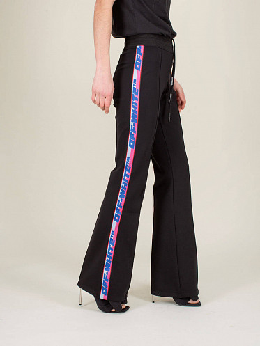 Athleisure Track Pant black white